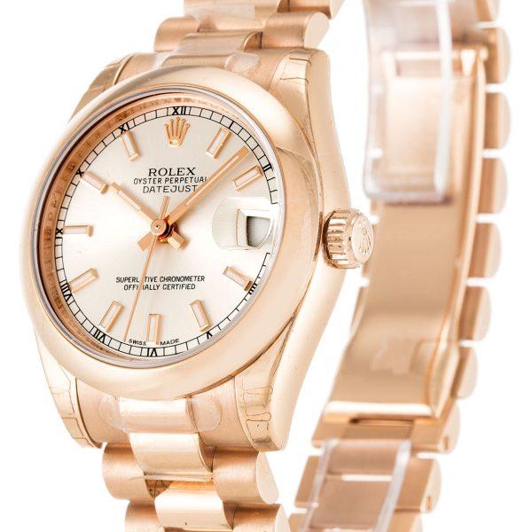 Rolex Datejust Replica 178245F Rose Gold Bezel 31MM
