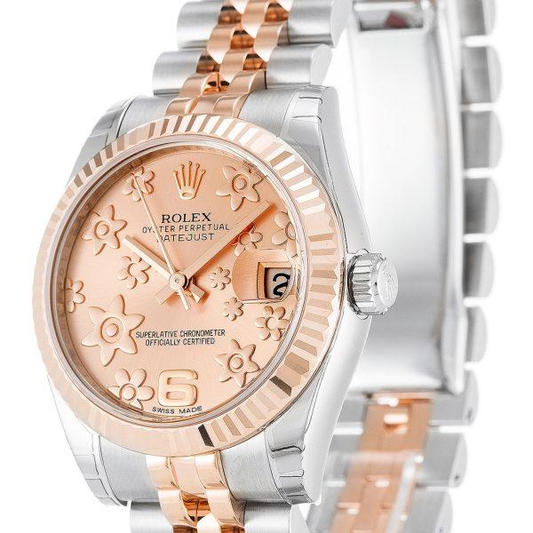 Rolex Datejust Replica 178271 001 Rose Gold Bezel 31MM