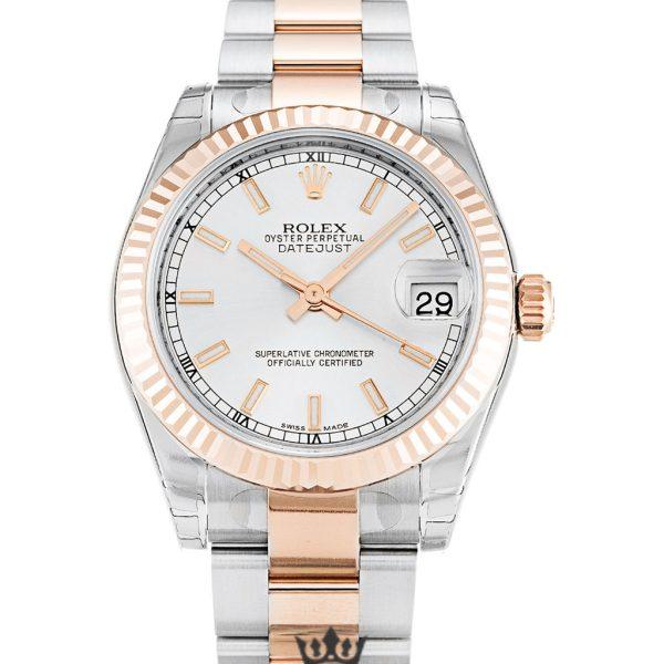 Rolex Datejust Replica 178271 002 Rose Gold Bezel 31MM