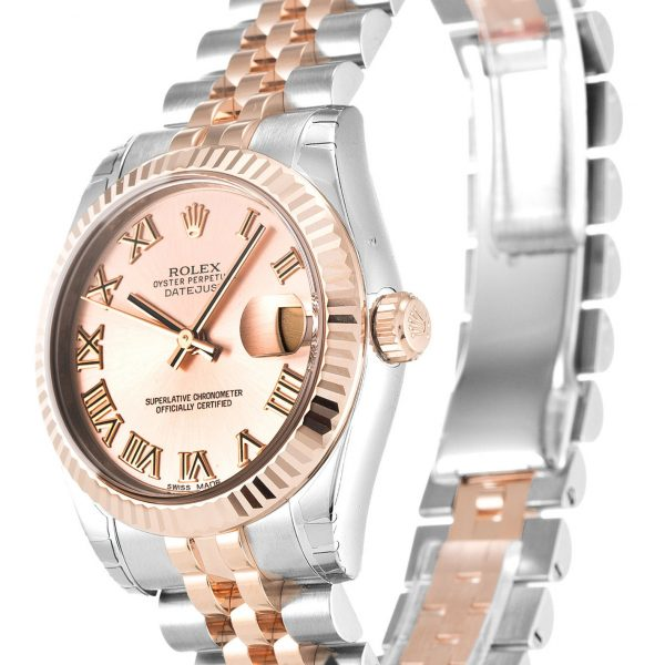 Rolex Datejust Replica 178271 Rose Gold Bezel 31MM