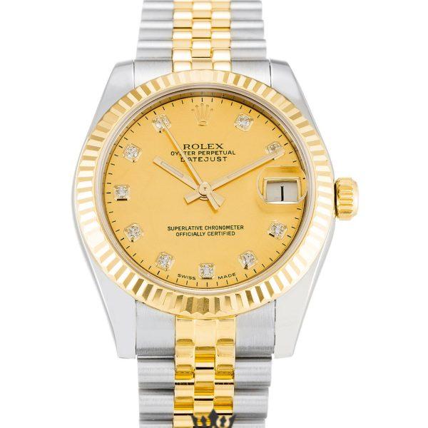 Rolex Datejust Replica 178273 Yellow Gold Bezel 31MM