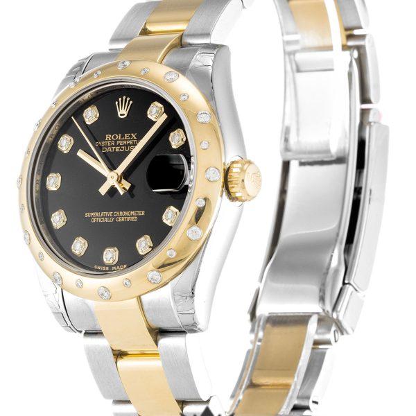 Rolex Datejust Replica 178343 Yellow Gold Bezel 31MM