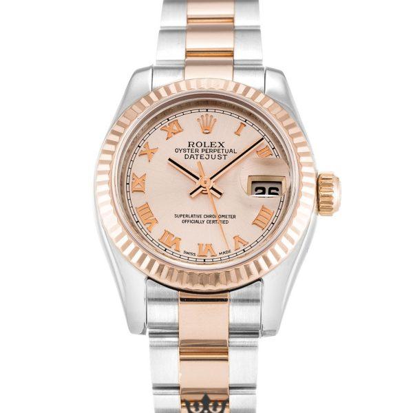 Rolex Datejust Replica 179171 001 Rose Gold Bezel 26MM