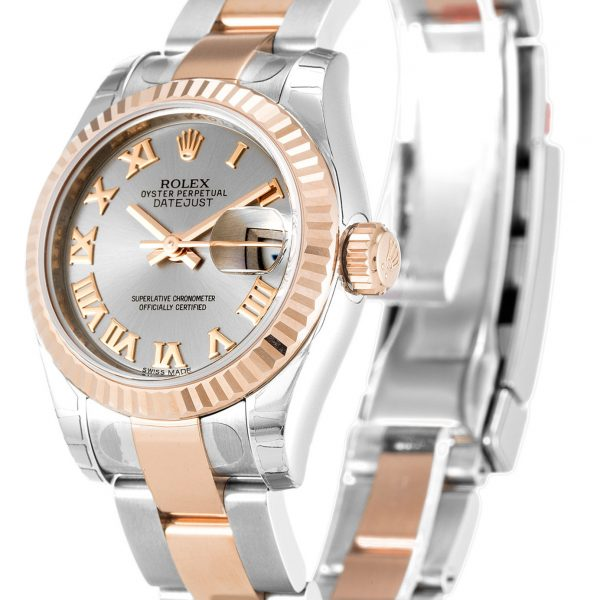 Rolex Datejust Replica 179171 Rose Gold Bezel 26MM