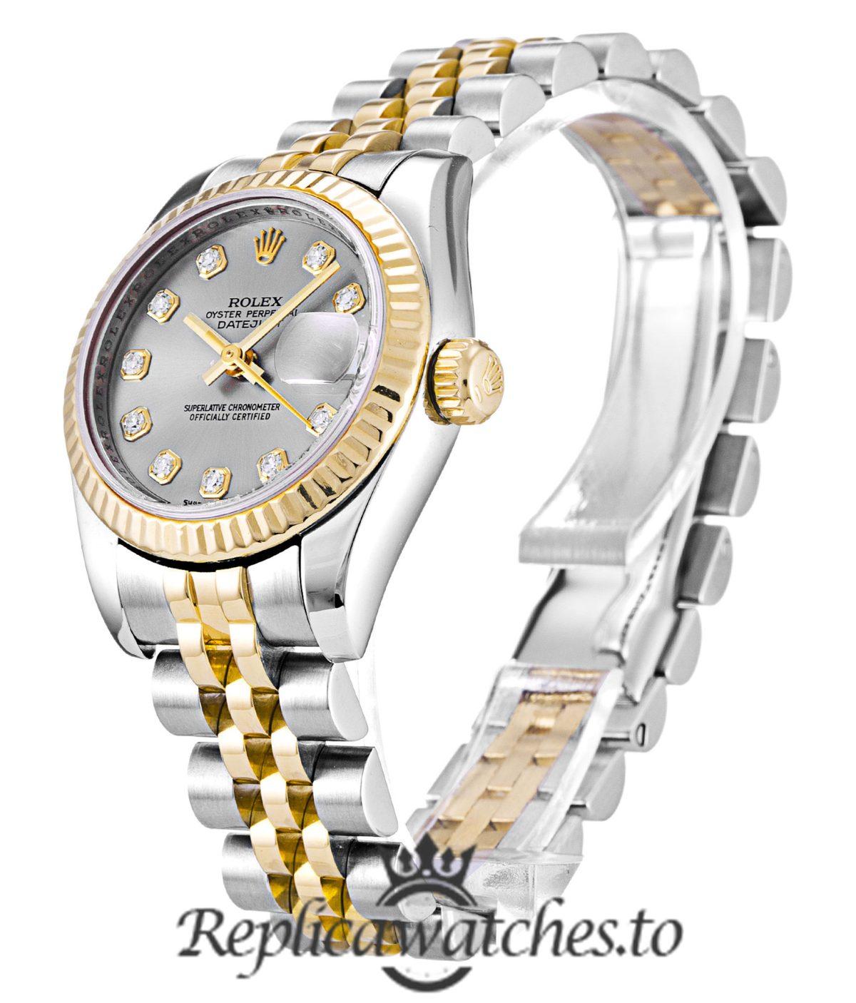 Rolex Datejust Replica 179173 004 Yellow Gold Bezel 26MM