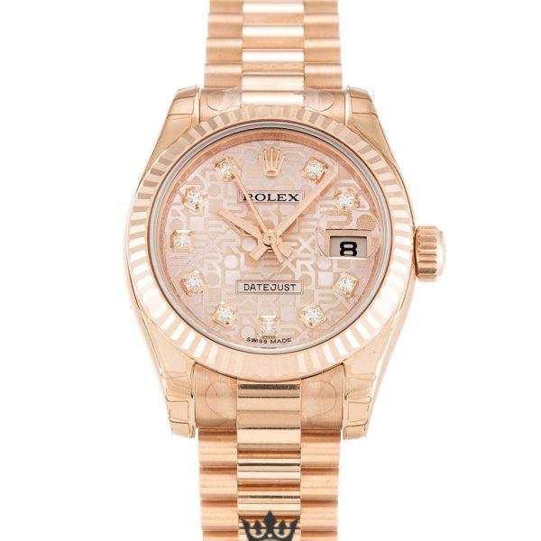 Rolex Datejust Replica 179175 Rose Gold Bezel 26MM