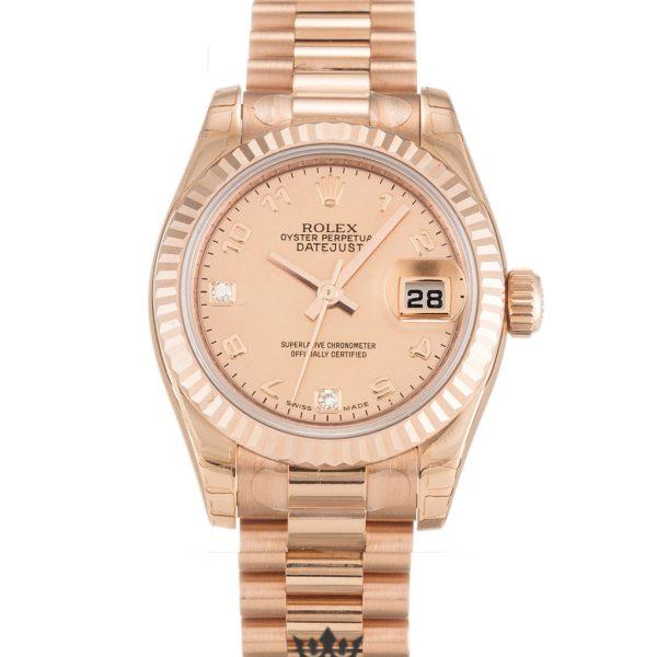 Rolex Datejust Replica 179175F Rose Gold Bezel 26MM