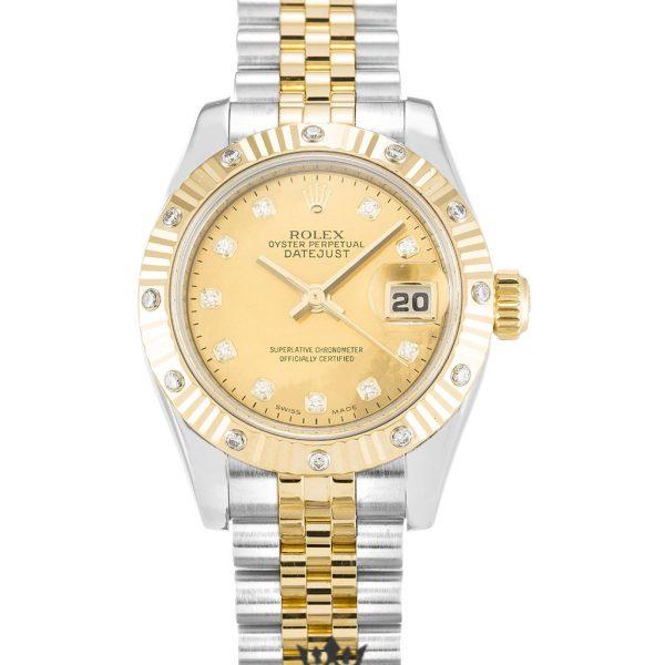 Rolex Datejust Replica 179313 001 Yellow Gold Bezel 26MM