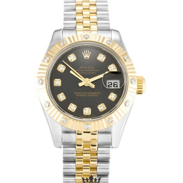 Rolex Datejust Replica 179313 Gold Bezel 26MM