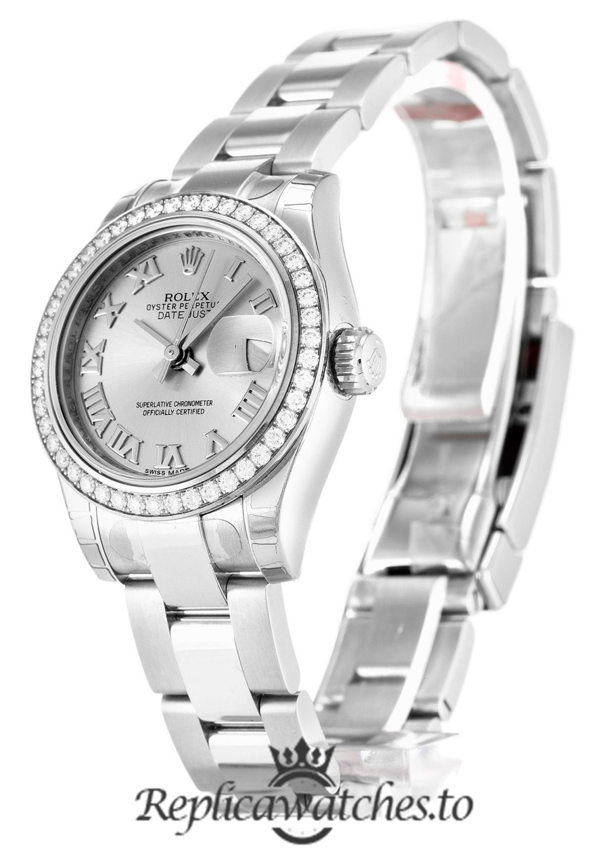 Rolex Datejust Replica 179384 Diamonds Bezel 26MM
