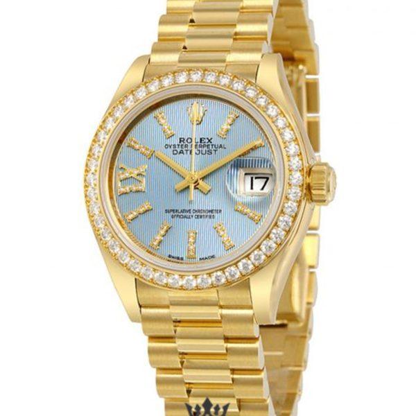 Rolex Datejust Replica 279138BLSRDP Diamonds Bezel 28MM