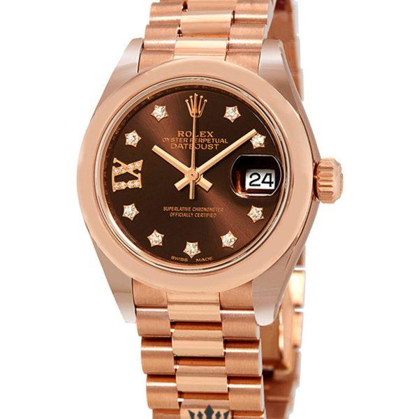 Rolex Datejust Replica 279165CHRDP Everose Gold Bezel 28MM