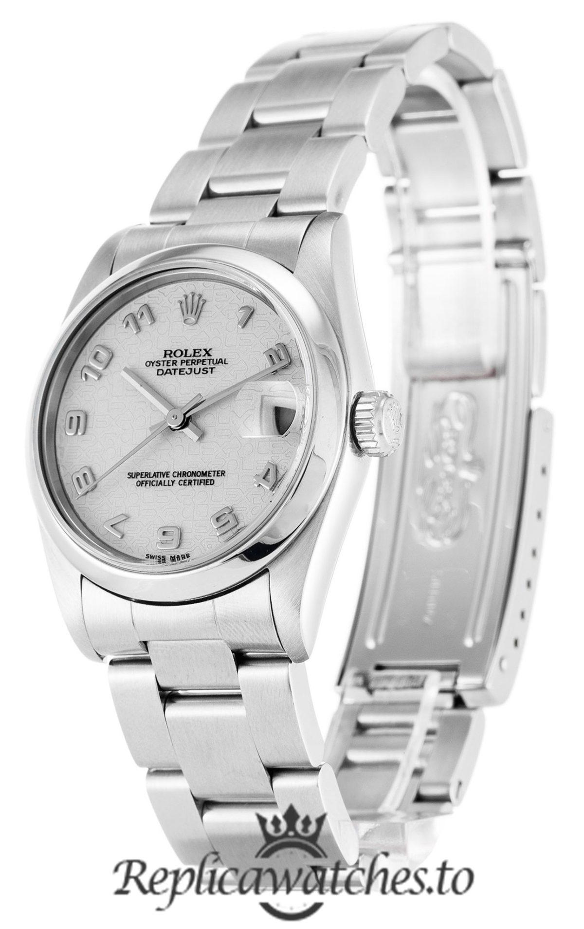 Rolex Datejust Replica 68240 Silver Bezel 30MM