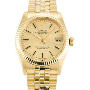 Rolex Datejust Replica 6827 001 Yellow Gold Strap 30MM