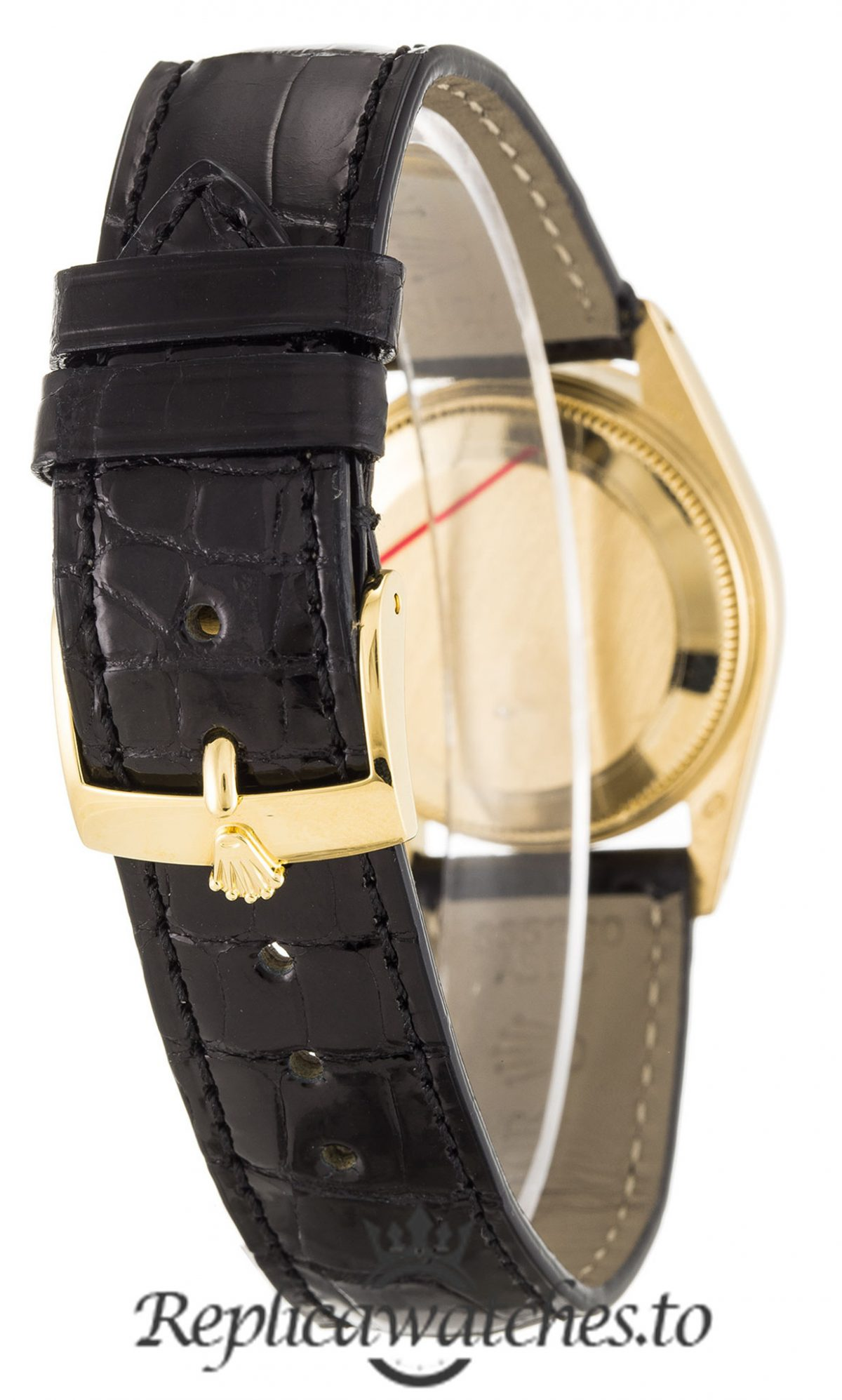Rolex Datejust Replica 6827 Black Strap 31MM