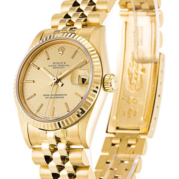 Rolex Datejust Replica 68278 Yellow Gold Bezel 31MM