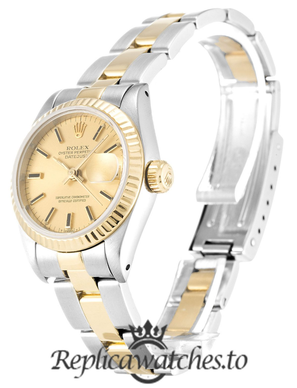Rolex Datejust Replica 69173 006 Yellow Gold Bezel 26MM