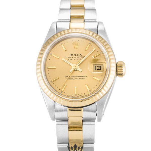 Rolex Datejust Replica 69173 007 Yellow Gold Bezel 26MM