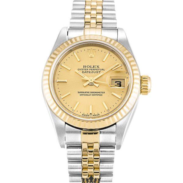Rolex Datejust Replica 79173 Yellow Gold Bezel 26MM
