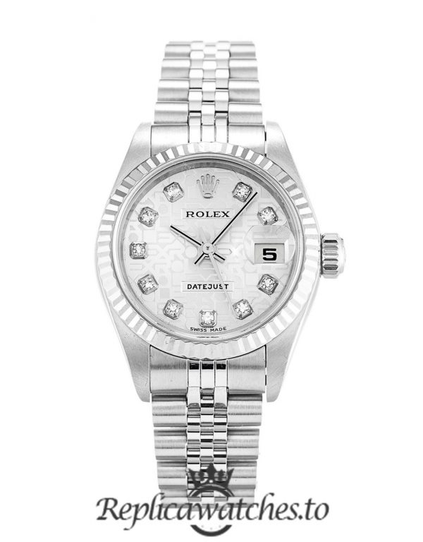 Rolex Datejust Replica 79174 001 Silver Strap 26MM