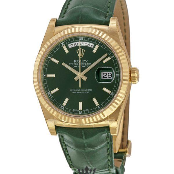Rolex Day Date Replica 118138GSL Green Strap 36MM