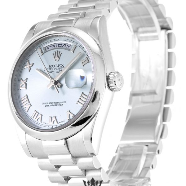 Rolex Day Date Replica 118206 Silver Strap 36MM