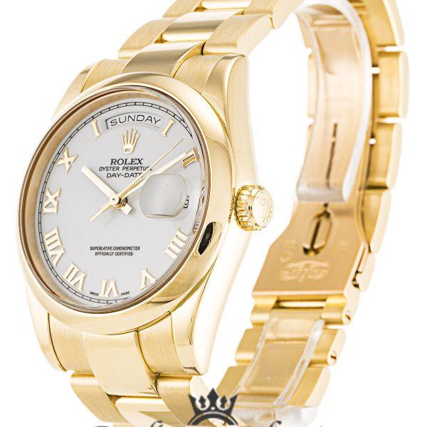 Rolex Day Date Replica 118208 Yellow Gold Strap 36MM