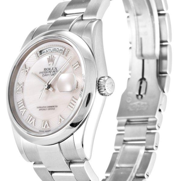 Rolex Day Date Replica 118209 Silver Strap 36MM