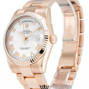 Rolex Day Date Replica 118235 F 001 Rose Gold Strap 36MM