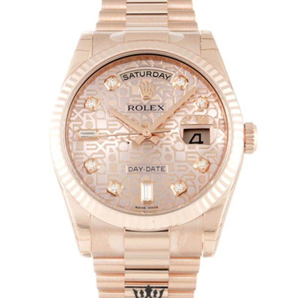 Rolex Day Date Replica 118235 F Rose Gold Strap 36MM