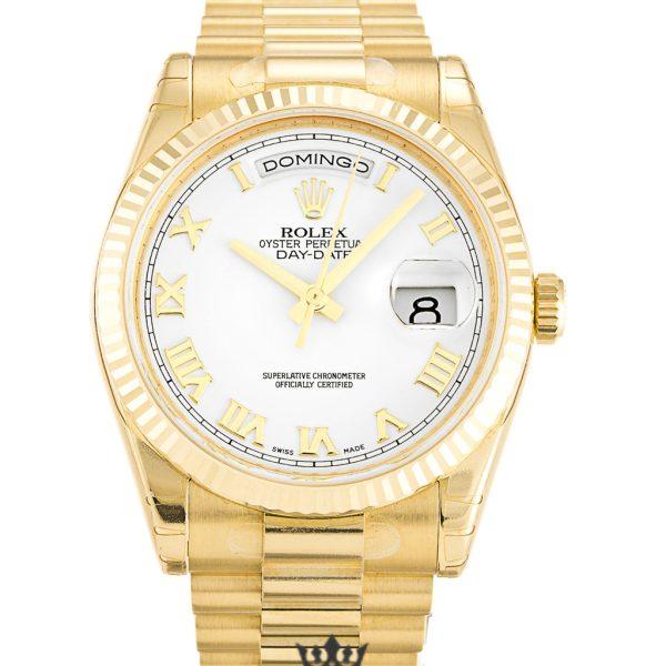 Rolex Day Date Replica 118238 003 Yellow Gold Strap 36MM