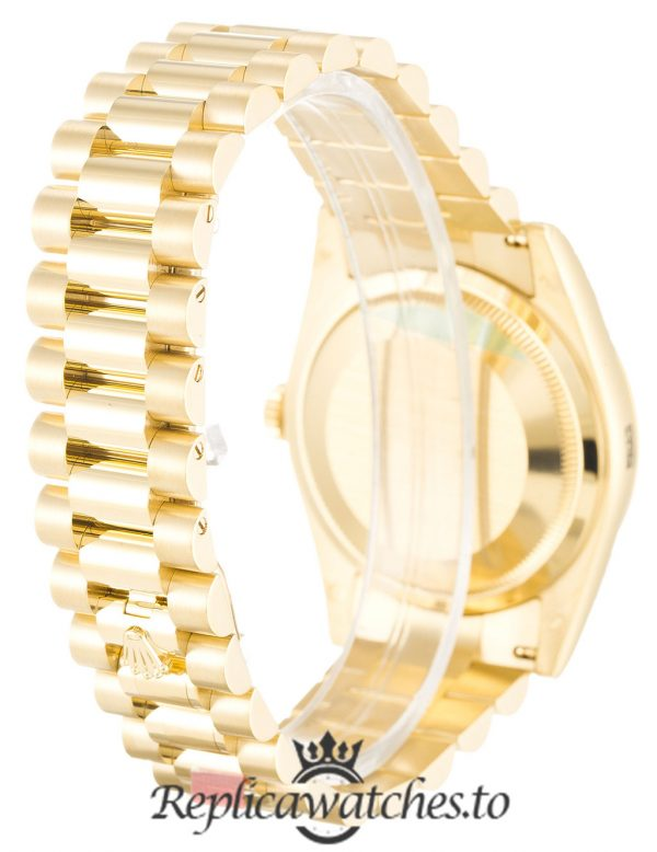 Rolex Day Date Replica 118238 005 Yellow Gold Strap 36MM