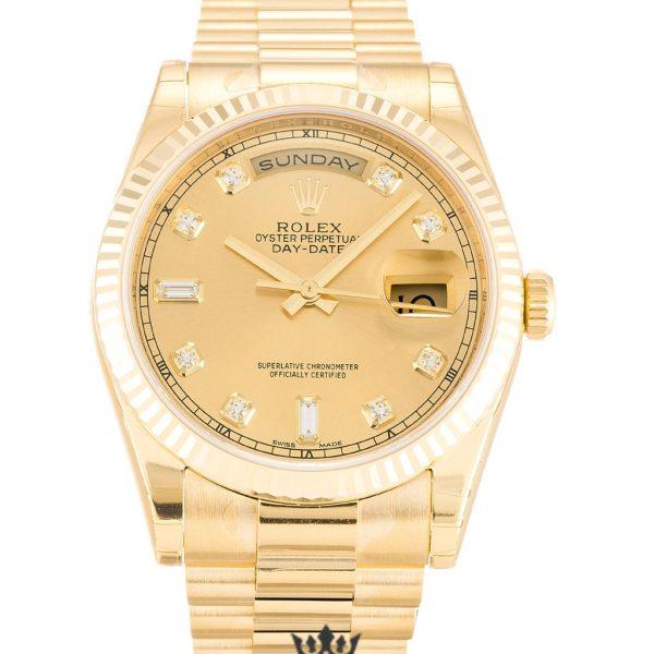 Rolex Day Date Replica 118238 005 Yellow Gold Strap 36MM