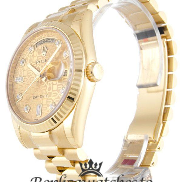 Rolex Day Date Replica 118238 006 Yellow Gold Strap 36MM