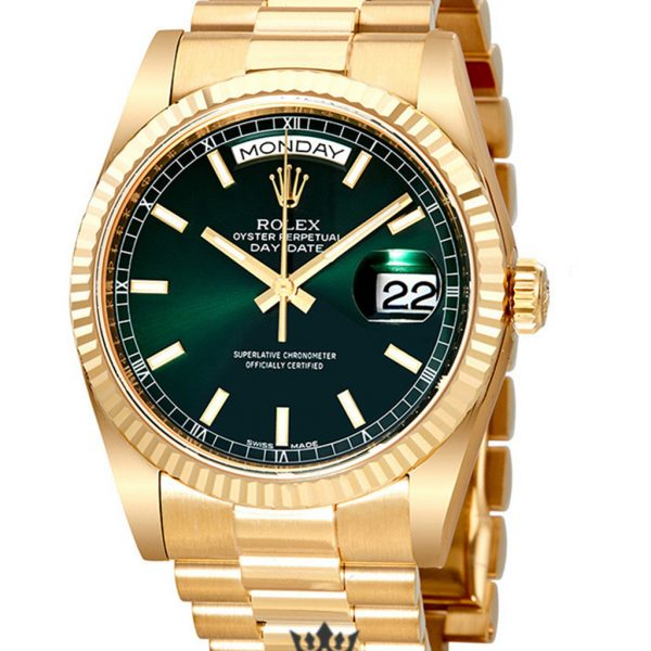 Rolex Day Date Replica 118238GNSP Yellow Gold Strap 36MM