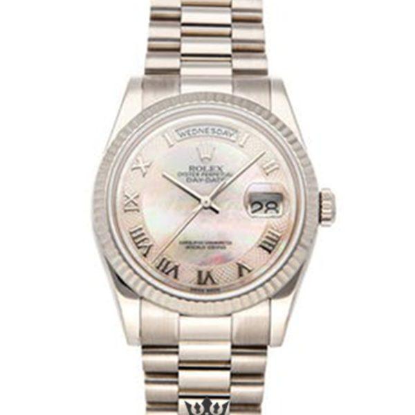 Rolex Day Date Replica 118239 White Gold Strap 36MM