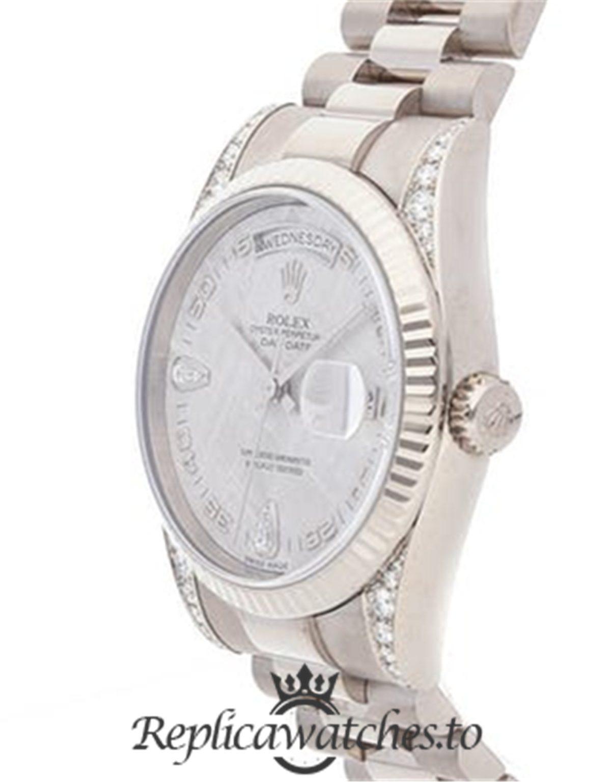 Rolex Day Date Replica 118339 Silver Strap 36MM
