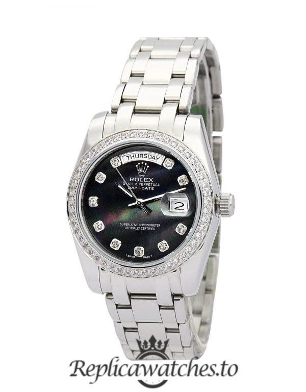 Rolex Day Date Replica 118346 002 Silver Strap 36MM