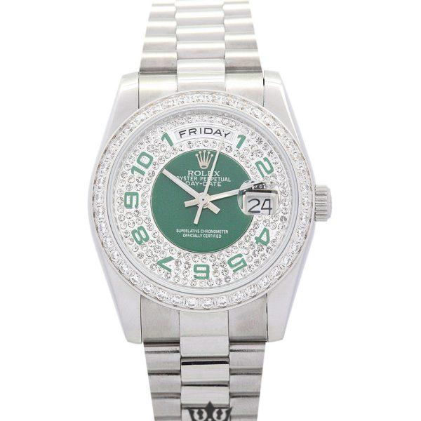 Rolex Day Date Replica 118346 003 Silver Strap 36MM