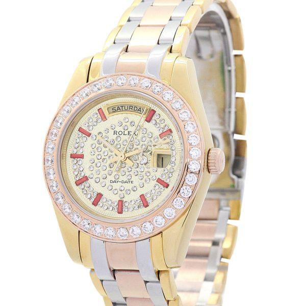 Rolex Day Date Replica 118346 Diamonds Bezel 36MM