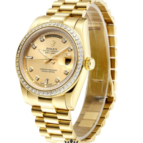 Rolex Day Date Replica 128348RBR Diamonds Bezel 40MM