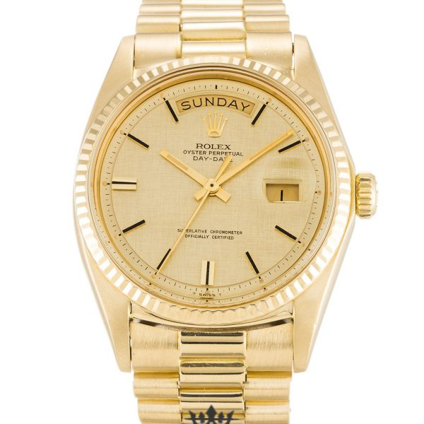 Rolex Day Date Replica 1803 Yellow Gold Strap 36MM