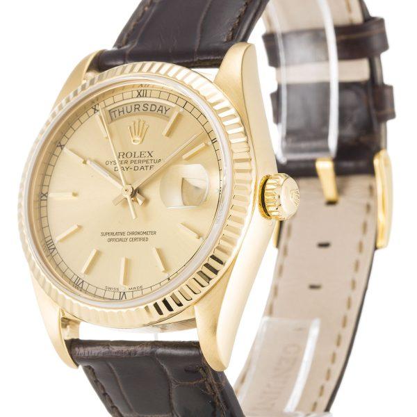 Rolex Day Date Replica 18038 002 Brown Strap 36MM