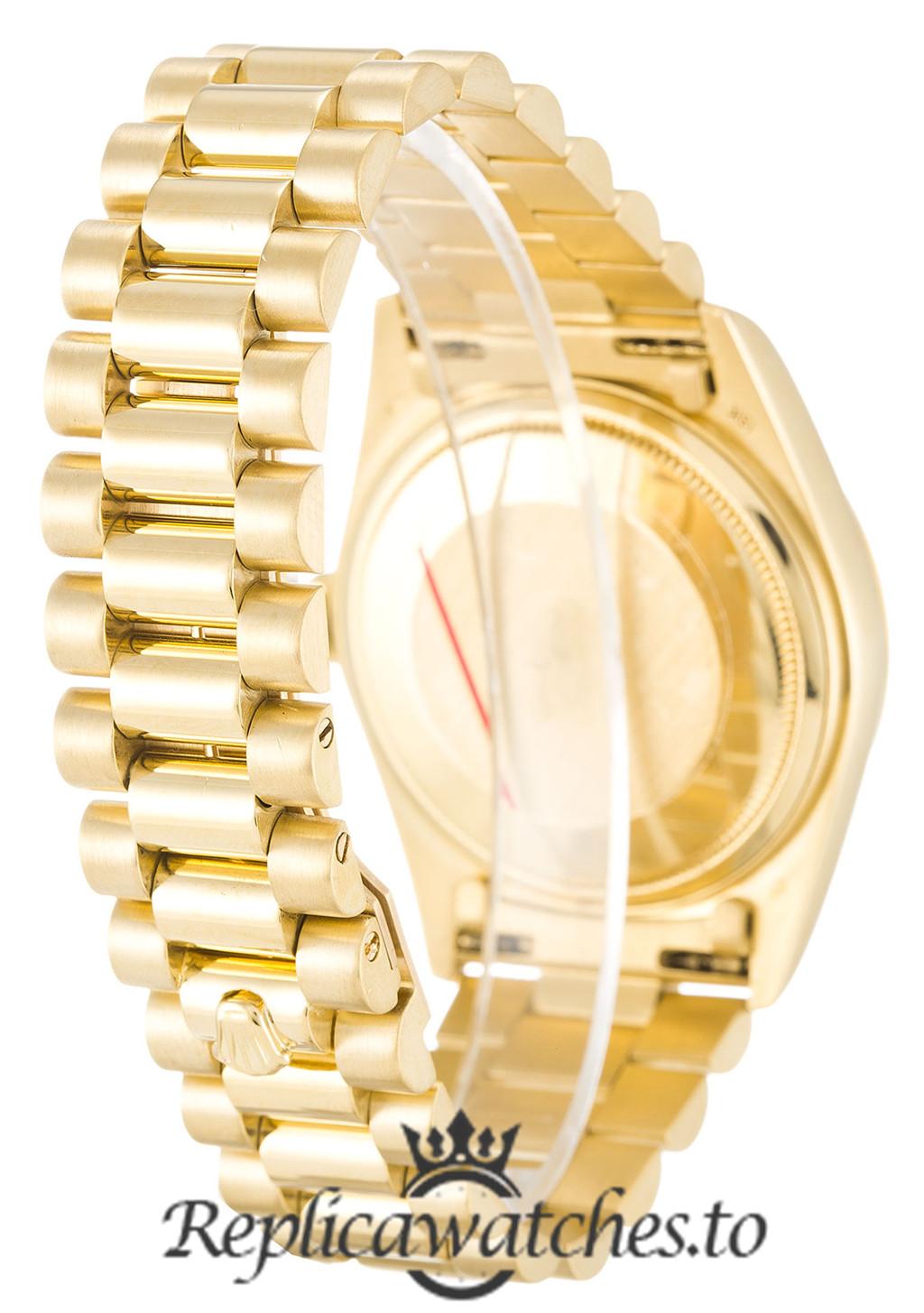 Rolex Day Date Replica 18038 Yellow Gold Strap 36MM