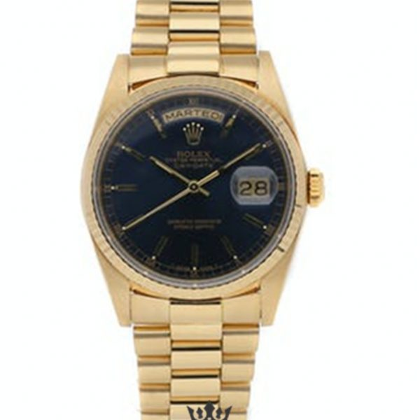 Rolex Day Date Replica 18238 001 Yellow Gold Strap 36MM