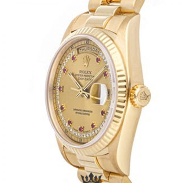 Rolex Day Date Replica 18238 002 Yellow Gold Strap 36MM