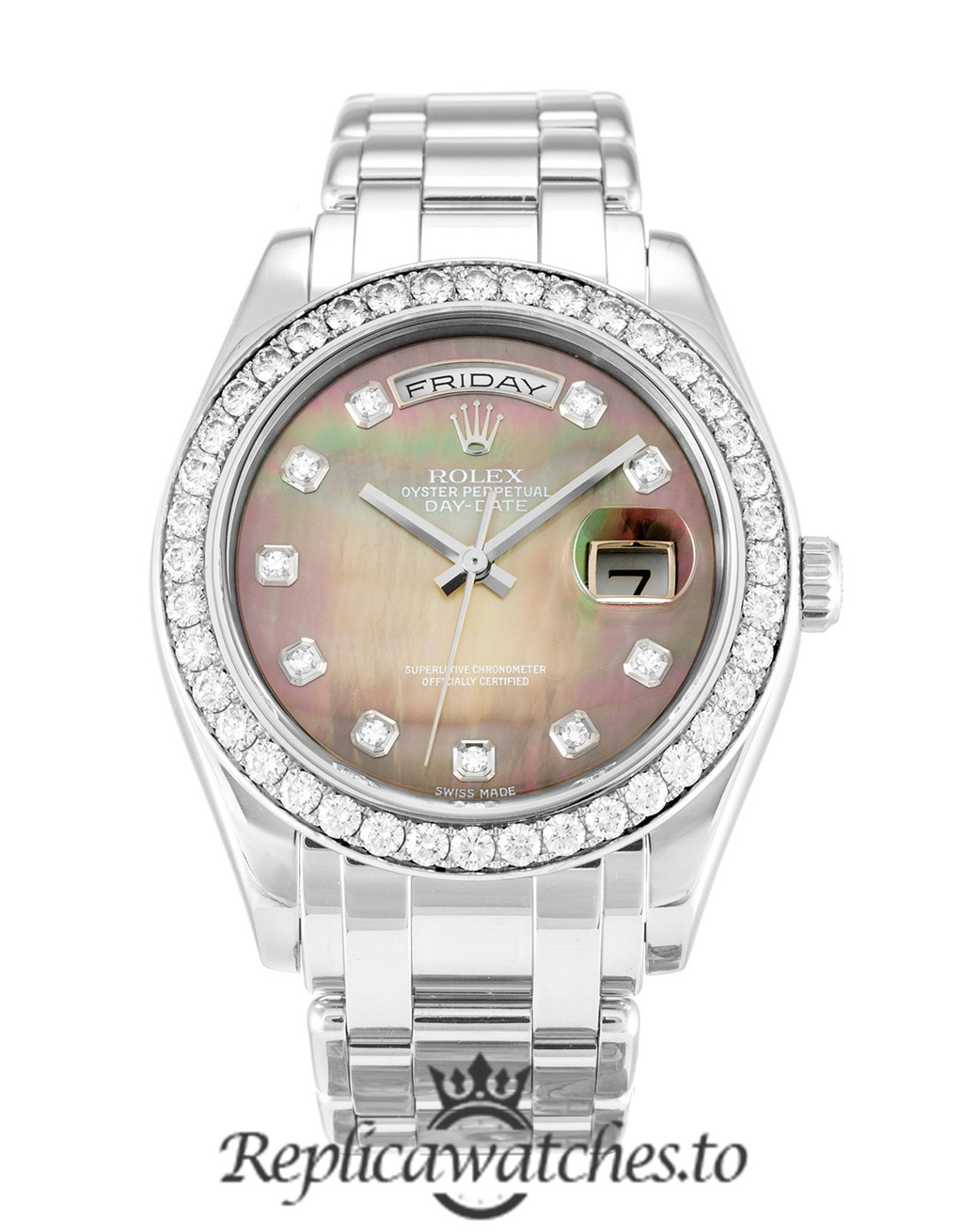 Rolex Day Date Replica 18946 Diamond Markers Dial 36MM