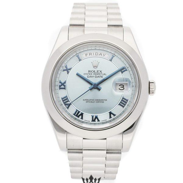 Rolex Day Date Replica 218206 003 Silver Strap 41MM