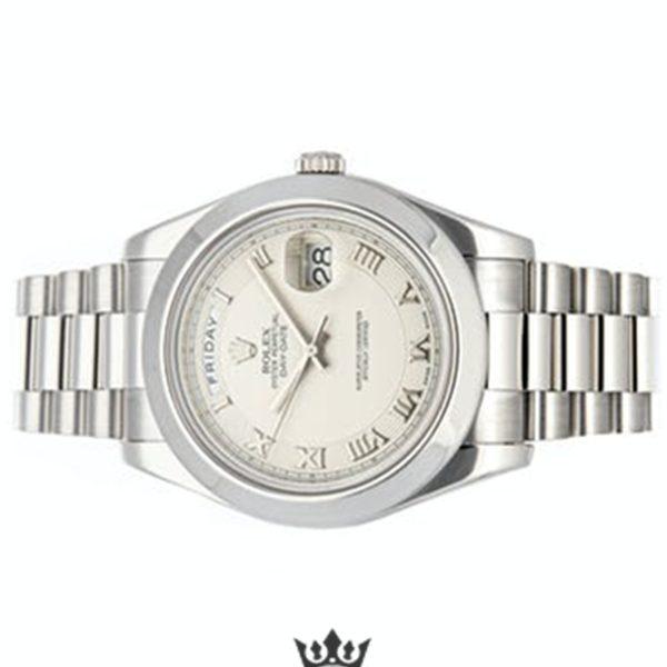 Rolex Day Date Replica 218206 Silver Strap 41MM