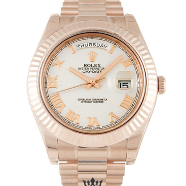 Rolex Day Date Replica 218235 002 Rose Gold Strap 41MM